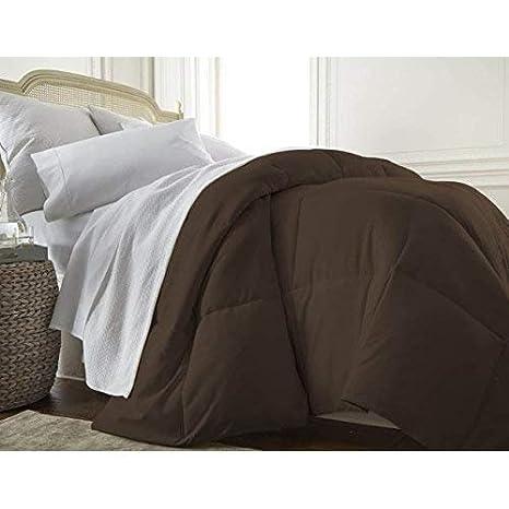 ienjoy Home Collection, Ultra Plush Premium Down Comforter, Twin/X-Large Twin, Chocolate IEH-COMFORTER-TWIN-CHOCOLATE