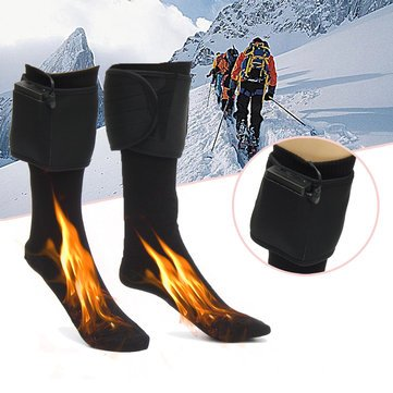 Cotton Wool - Sports & Outdoor - Winter Outdoor Electric Heater Travel Battery Heated Socks Cotton Socks Comfortable Warm Shoes Foot Warmer Human Foot Wintertime Electric Car Cotton - 1PCs