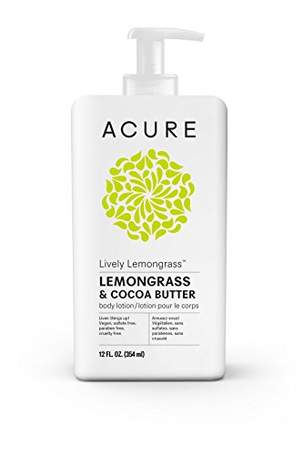 Acure Organics Natural Nourishing Body Lotion With Lemongrass, Argan Oil For Face & Body, & Anti-Aging Rosehips For Dry Skin, 8 fl. oz. (Pack of 2) - Evening Primrose Rose Body Lotion