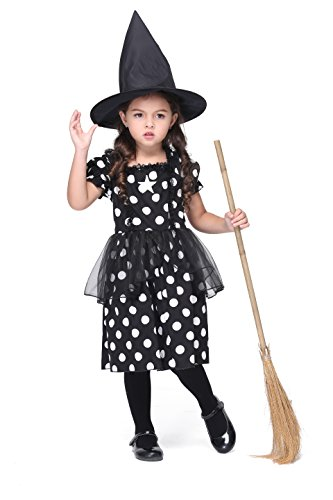 MOCUER Witch Costume for Baby Girls Halloween Wizard