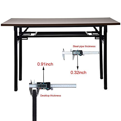 Sonmer 44''×24'' Folding Computer Desk, One-Step Assembly,Double Layer,Home Simple Learning Conference Desk by Sonmer (Image #3)