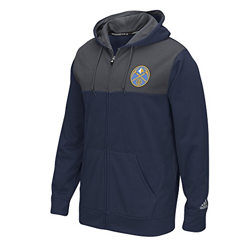 NBA Denver Nuggets Men's Tip-Off Full Zip Hoodie, Small, Navy