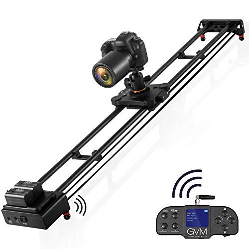 GVM 51'' Motorized Camera Slider with Wireless Remote Control, Automatic Round Trip, Time Lapse, Video Capture, 24-Hour Standby, Slider Smooth and Stable, with Battery