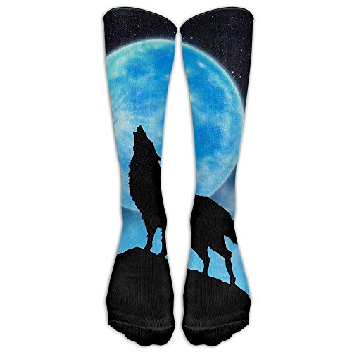 Dance Crew Costume Ideas (Wolf Casual Cotton Crew Socks For Men And Women - Running & Fitness - Best Medical, Nursing, Travel & Flight Socks)