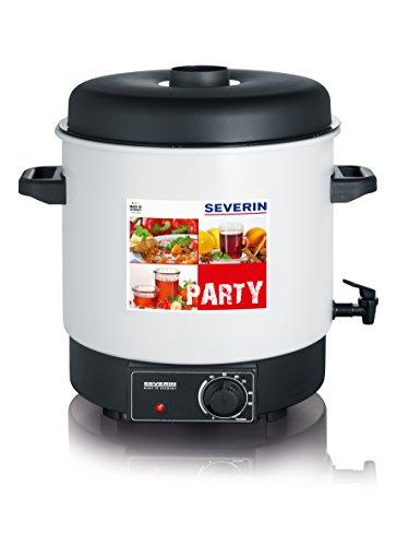Severin EA 3653 Einkoch- und Heißgetränkeautomat mit Auslaufhahn / für 14 Stück 1-Liter-Rundrandgläser 100 / weiß-schwarz
