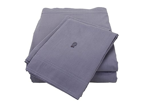Lacoste Brushed Twill California King Sheet Set Folkstone Gray