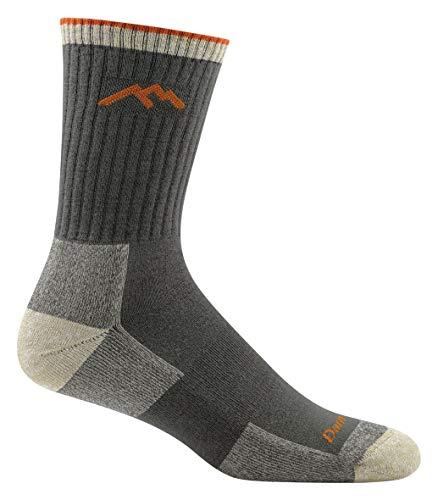 Darn Tough Coolmax 1/4 Sock - Darn Tough Coolmax Micro Crew Cushion Socks - Men's Olive Large
