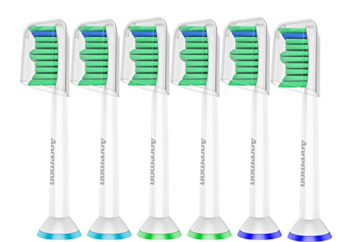 Aoremon Replacement Toothbrush Heads Design for Philips Sonicare ProResults, Compatible with Sonicare 2 Series Plaque Control, 3 Series Gum Health, DiamondClean, FlexCare, HealthyWhite (hx6014-6)