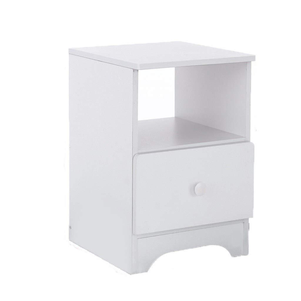 ZeanIImy DIY Minimalist Bodenmontage Nacht zusammenbauen Lagerschrank Schlafzimmer Nachttisch Doppel Schublade DIY Holztisch Möbel Möbel (Farbe : 30x32x45cm)