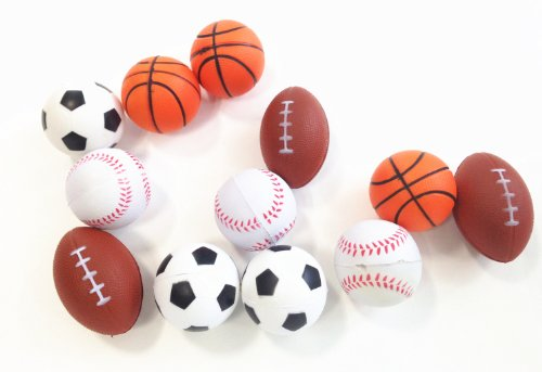 Dazzling Toys Set of 24 Sports Balls for Kids - Soccer Ball,