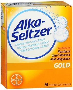 Alka-Seltzer Effervescent Gold - 36 Tablets, Pack of 6