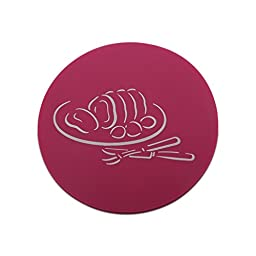5 PCS Coasters Home Decoration Accessory Kitchen Table Dish Plate Cup Anti-skid Heat-resistant Round European Simple Coasters (Violet)