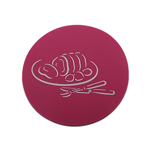 5 PCS Coasters Home Decoration Accessory Kitchen Table Dish Plate Cup Anti-skid Heat-resistant Round European Simple Coasters (Violet) by Itemship