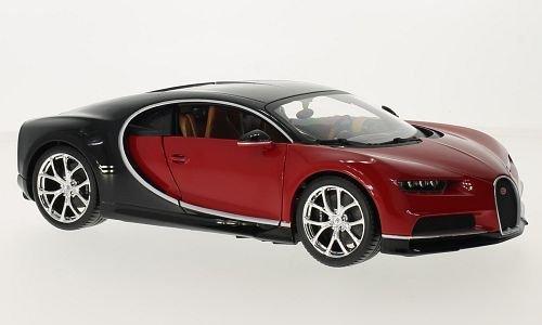 1:18 Bburago Bugatti Chiron Red Diecast Model Roadster Car Vehicle New in Box by Bburago