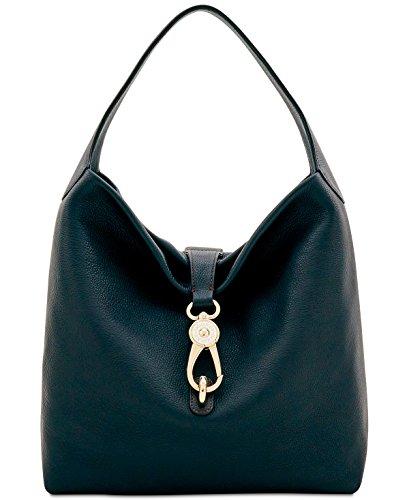 (Dooney & Bourke Logo Lock Medium Shoulder Bag (Black))