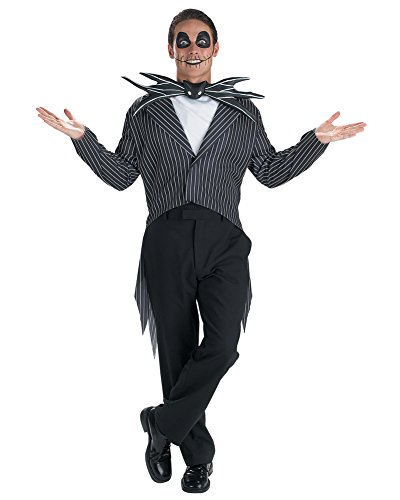 [Cartoon Character Jack Skellington Theatre Costumes Nightmare Before Christmas Sizes: One Size] (The Nightmare Before Christmas Sexy Jack Costumes)