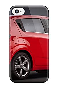 SaundraVillard Snap On Hard Case Cover Chevy Sonic Red Mobile Protector For Iphone 4/4s