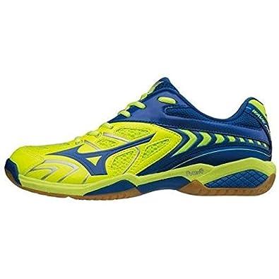 7a7fdedfd35f Mizuno Wave Fang SS2-Neon Green Indoor Badminton Non-Marking Shoes (UK 8