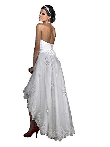 Hochzeitskleid A Lang Brautkleid Elfenbein Mingxuerong Mit Asymmetrische Linie Spitze UPdxCxqOwn