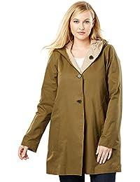 Womens Plus Size Reversible A-Line Raincoat