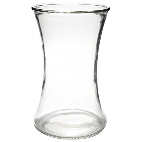 Flower Rose Bunch Glass Gathering Vase Decorative Centerpiece For Home or Wedding (Fits Dozen Roses) by Royal Imports - Round - 8