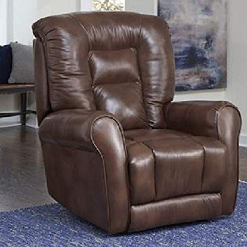(Southern Motion Grand Lay Flat { Power Lift Recliner Chair.} (Leather/Vinyl) (400 Lbs Capacity) (Seat Width 22 Inches. Extend Length 70 Inches) Curbside Delivery. 94420-906-21)