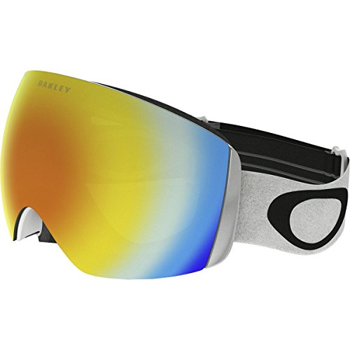Oakley Flight Deck XM Snow Goggles, Matte White, Fire Iridium, - Oakley Goggles Ski Fire Iridium