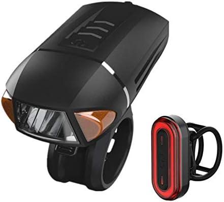 自転車用ライトセットUSB充電式-盗難防止アラームとワイヤレスリモートコントロールを備えた、非常に明るい防水LEDサイクルライトで、取り付けが簡単