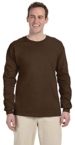 Fruit of the Loom Adult 5 oz. Long-Sleeve T-Shirt, CHOCOLATE, 3XL - New Xxx Large T-shirt