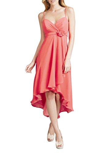 WeiYin Women's Hi-Lo Chiffon Flower Party Dress