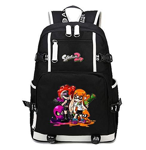 Gumstyle Splatoon Anime School Bag Backpack Shoulder Book Bags for Boys Girls Students Black 2