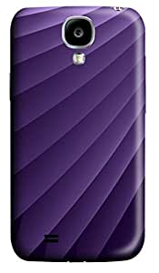 Purple Layers Polycarbonate Hard Case Cover forSamsung Galaxy S4 I9500