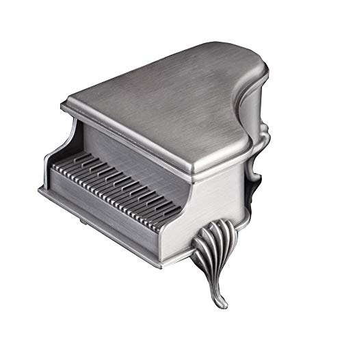 - AMhuui Retro Jewelry Box, Piano Shape Trinket Box Ring Earrings Treasure Organizer Box Unique Keepsake Gift Case,A,Noword
