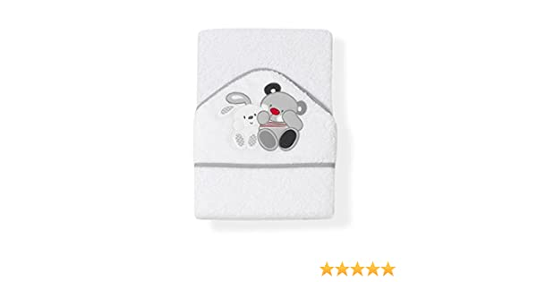 Interbaby Amigos - Capa de baño, 1 x 1 m, color blanco/gris: Amazon.es: Bebé