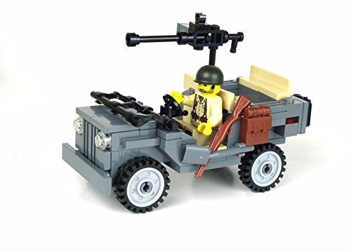 WW2 Willys Jeep - Battle Brick Custom Set Us Army Willys Jeep