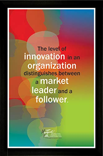 "Level of Innovation in Organization Distinguishes Between Market Leader and Follower Wall Posters Creatively Designed Available in Various Vinyl and Framed Sizes Learning Tool (Framed, 19.75""x26"") (Leader Level Market)"