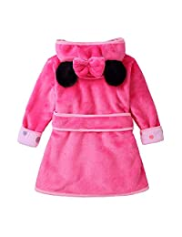 YAGATA Baby Boys Girls Bath Towel Cute Hooded Soft Plush Flannel Fleece Home Dressing Gown