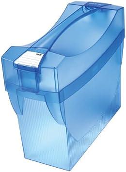 color azul transl/úcido 397 x 347 x 154 mm, con bolsillos para bol/ígrafos Caja archivadora de carpetas colgantes Han Swing Plus Comfort