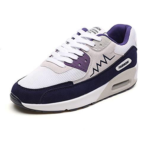 Bornran メンズ ランニングシューズ メッシュ エアクッション ウオーキングシューズ スニーカー 通学靴 運動靴 スポーツ アウトドア カジュアル お洒落 通気 歩きやすい