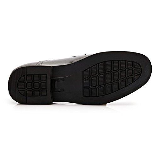Negro zapatos Boda La Jialun Formal Vestir Zapatos Cordones Cuero Con Los Hombres Oxford Pu De 6fqgBnZ