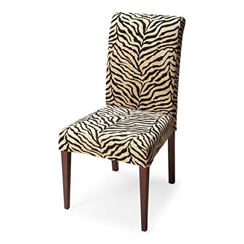 Butler Zebra Print Fabric Multi-Color Poplar Solids, 80% Cotton, 20% Dacron Otis UPHOLSTERED Parsons Chair