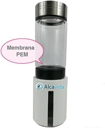 Alcavida-Zoe-H2 hidrogenador de Agua portátil | enriquece tu Agua con hidrogeno vayas Donde vayas| Sistema PEM Separa el oxigeno del hidrogeno Doble ...