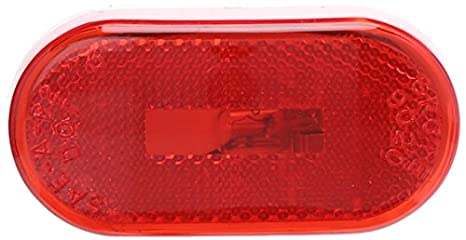 Grote 46392 Rectangular Single-Bulb Clearance//Marker Lamp with Reflector Red
