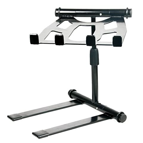 Pyle PLPTS55 - Portable, Folding Tabletop DJ Gear Stand for Laptop Mixer or Other Gear - Adjustable Angle and (9 Dj Rack)