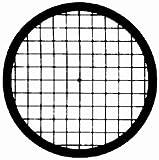 Veco Square Mesh Center Reference Grid 100 mesh, Copper, 250 µm , 100/VL