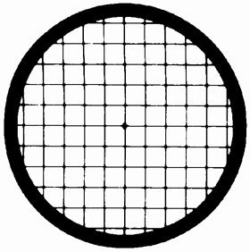Veco Square Mesh Center Reference Grid 100 mesh, Copper, 250 µm , 100/VL by Electron Microscopy Sciences