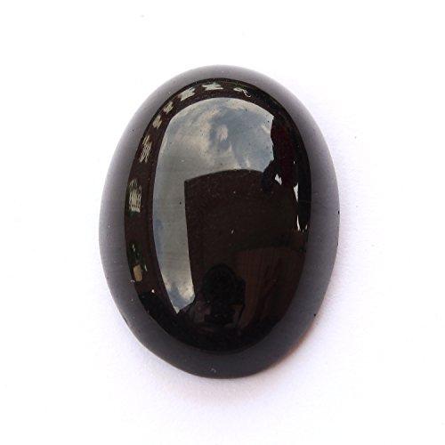 Be You 15cts Noir Couleur Facettes Ovale Forme Naturel Pakistan Onyx