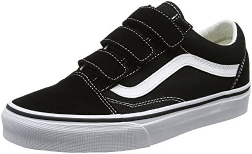 Vans Men s Low-Top Trainers, Black Black True White Suede Canvas, 44.5