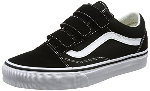 Vans Unisex Old Skool V Black/True White 11 B(M) US Women/9.5 D(M) US Men (Vans Strap Shoes)