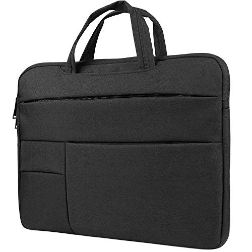 Briefcase Laptop Sleeve Case for HP Zbook, ProBook, Pavilion, Envy, Spectre, Essential, x360, EliteBook 15 inch, Gaming Business Work School Bag for Men Women fits up to 15.6 inch Laptops, Black